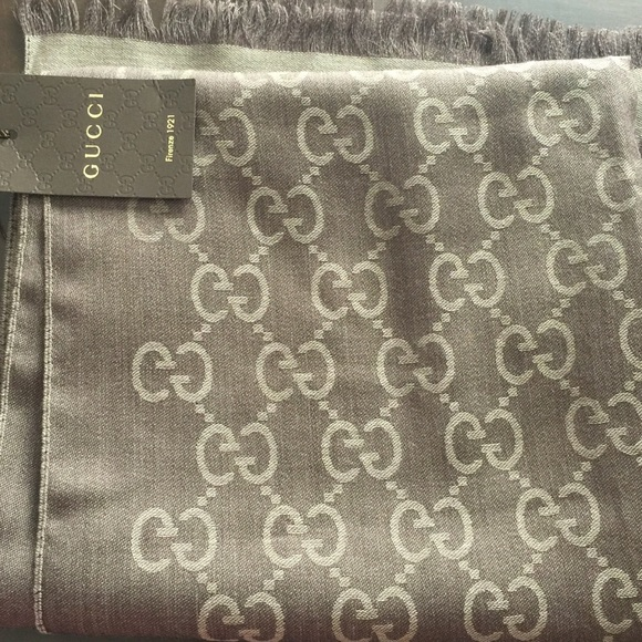 1f2c854a4 Gucci Accessories | Fantastic Trademark Logo Wool And Silk Scarf ...